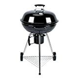 Alice's Garden - Barbecue charbon de bois Ø57cm - Georges noir émaillé - Barbecue avec aérateurs, émaillé, fumoir, récupérateur de ...