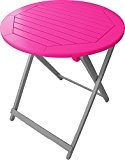 City Green CGBUR113 Table Ronde Plainte Acacia Fuchsia Diamètre 65 cm