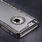 Coque Etui Housse Luxe Bling cristal Diamant rigide Durable (Argent) pour iPhone 4/4S par TB1 Products®