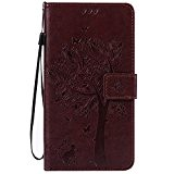 Cozy Hut Chat et arbre Étui pour Huawei Ascend Mate 7 Housse étui coque Case Cover smart flip cuir Case ...