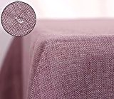 Deconovo Nappe Exterieur Decoration Waterproof pour Table 148x300 cm Vieux Rose