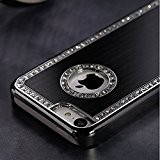 Durable strass cristal de diamant Etui Coque Rigide Paillette Noir pour iPhone 4/4S Par TB1 Products ®