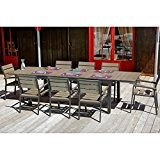Ensemble table extensible de jardin 200 - 300 cm +