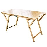 Frasm 610084 Laura Table pliante en bois de hêtre ; 70 x 140 cm Naturel