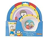 Fun House T'Choupi Ensemble lunch : 1 verre + 1 assiette + 1 bol micro-ondable 250 ml