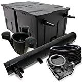 Kit de filtration avec Bio Filtre 60000l, 72W UV Stérilisateur, Pompe de bassin, Skimmer et Tuyau
