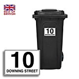 Personalised Wheelie Bin Sticker / Vinyl Labels with House Number & Street Name - Size A5 by Stickerzilla