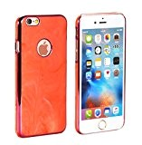 PhoneStar Marble Prime Design Hardcase Cas de téléphone Case Backcover pour Apple iPhone 6, iPhone 6s en rouge