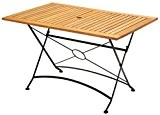 WOHNWOHL®  Salon WOHL® Table de jardin Table en bois table pliante Gastro Table en bois d'eucalyptus 100% FSC, pliable, ...